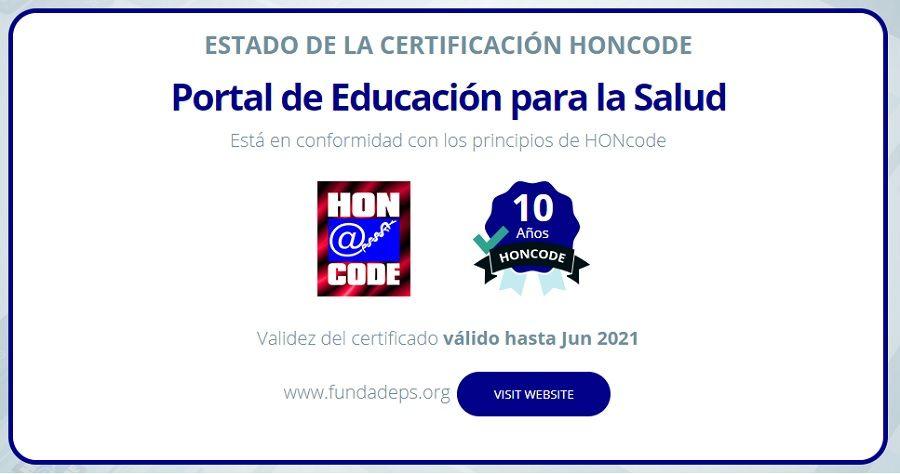 El Portal de Educación para la Salud de FUNDADEPS renueva el certificado HONcode por décimo año consecutivo