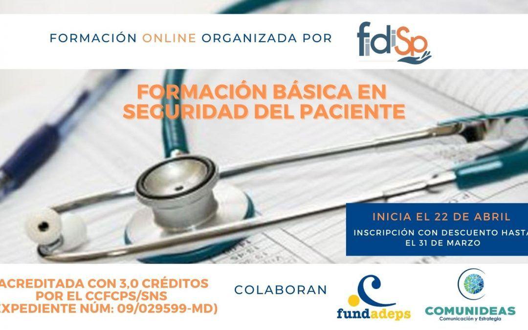 Formación básica en Seguridad del Paciente – Modalidad online