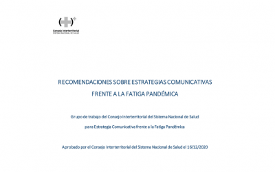 RECOMENDACIONES SOBRE ESTRATEGIAS COMUNICATIVAS FRENTE A LA FATIGA PANDÉMICA