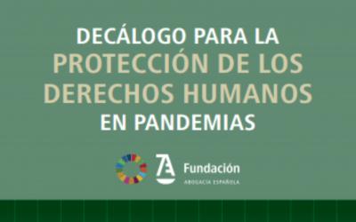 Decálogo para la protección de los derechos humanos en pandemias