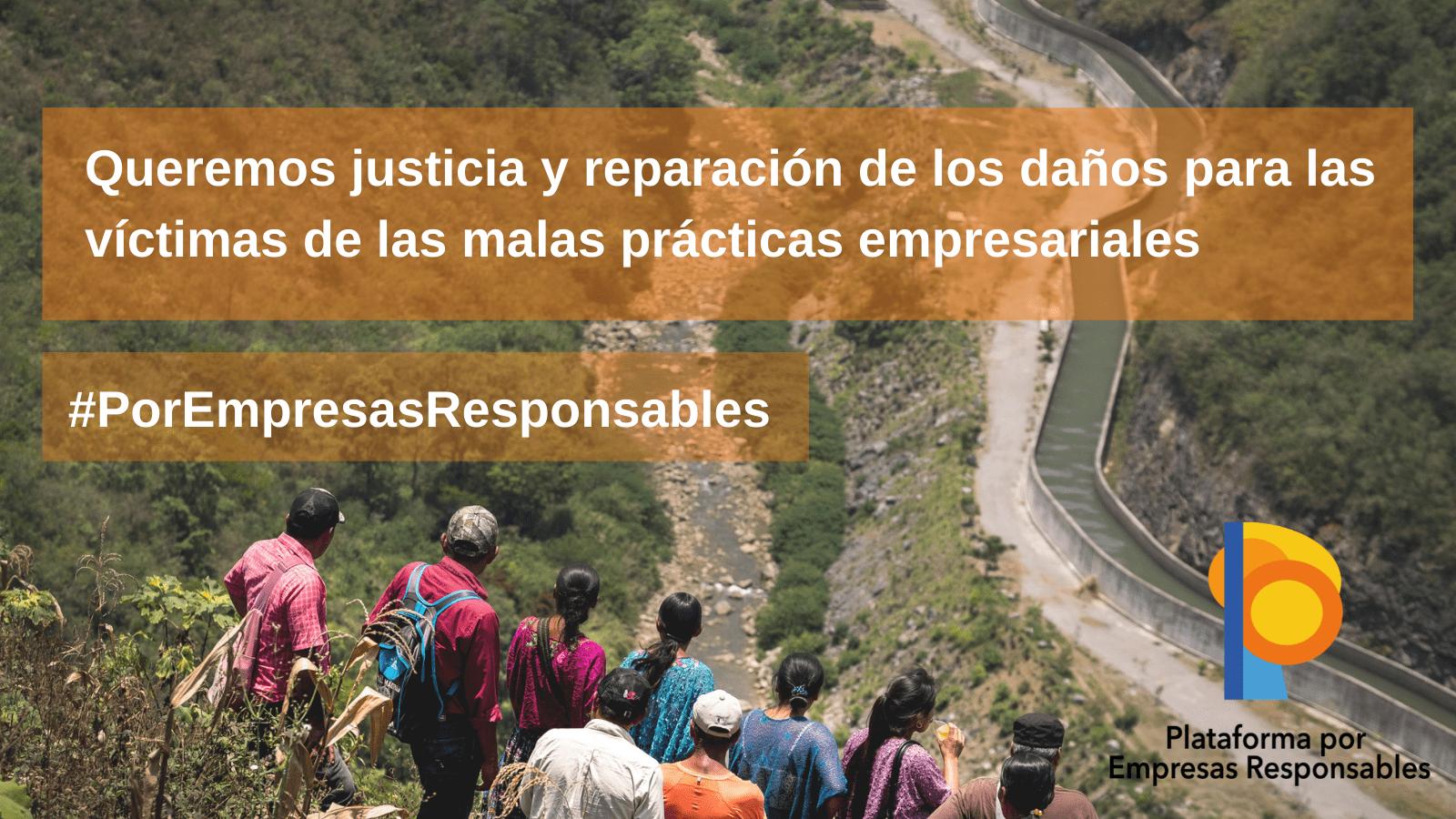 Nace la Plataforma por las Empresas Responsables para exigir al gobierno una ley que responsabilice a las empresas españolas de los impactos sobre los derechos humanos y medioambientales